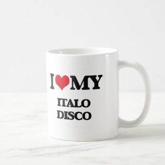 Amo mi DISCO de ITALO Taza Básica Blanca