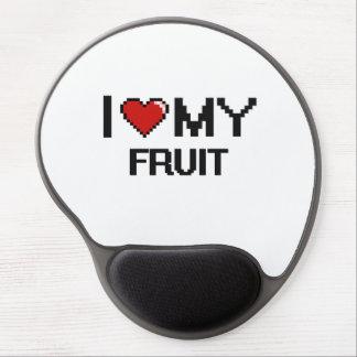 Amo mi diseño de Digitaces de la fruta Alfombrillas Con Gel