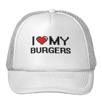 Amo mi diseño de Digitaces de las hamburguesas Gorra
