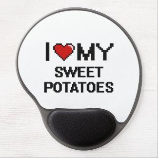 Amo mi diseño de Digitaces de las patatas dulces Alfombrillas Con Gel