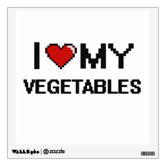 Amo mi diseño de Digitaces de las verduras Vinilo Adhesivo