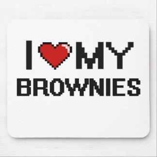 Amo mi diseño de Digitaces de los brownie Alfombrillas De Raton