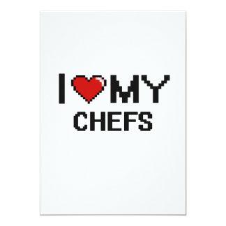 """Amo mi diseño de Digitaces de los cocineros Invitación 5"""" X 7"""""""