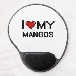 Amo mi diseño de Digitaces de los mangos Alfombrilla De Raton Con Gel