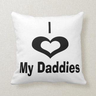 Amo mi diseño del papá de los papás con el corazón cojín decorativo