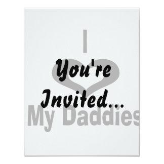 """Amo mi diseño del papá de los papás con el corazón invitación 4.25"""" x 5.5"""""""