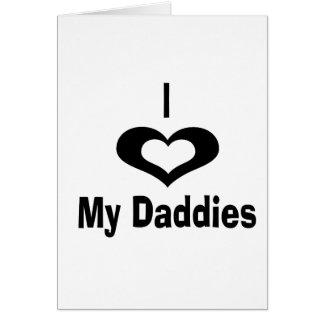 Amo mi diseño del papá de los papás con el corazón tarjeta de felicitación