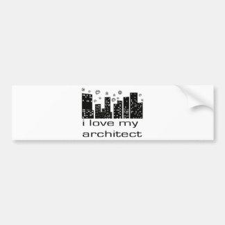¡Amo mi diseño original del arquitecto! Etiqueta De Parachoque