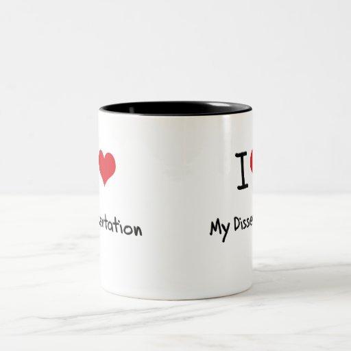 Amo mi disertación tazas de café