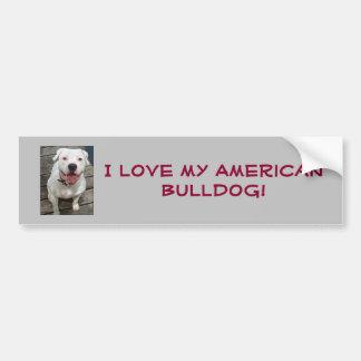 ¡Amo mi dogo americano! Pegatina para el Pegatina Para Auto