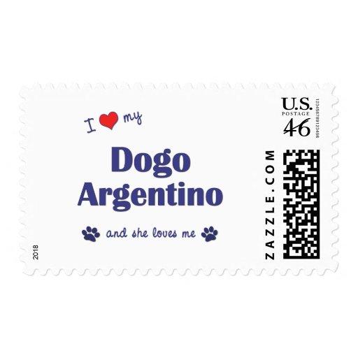 Amo mi Dogo Argentino (el perro femenino) Sellos