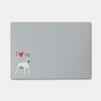 Amo mi Dogo Argentino Notas Post-it®