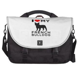 Amo mi dogo francés bolsas para ordenador