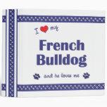 Amo mi dogo francés (el perro masculino)