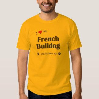 Amo mi dogo francés (el perro masculino) polera