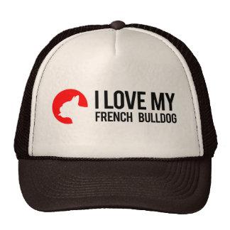 Amo mi dogo francés gorros bordados