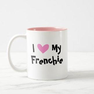 Amo mi dogo francés taza de dos tonos