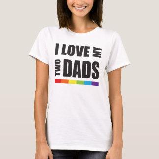 Amo mi dos orgullo de los papás LGBT Playera