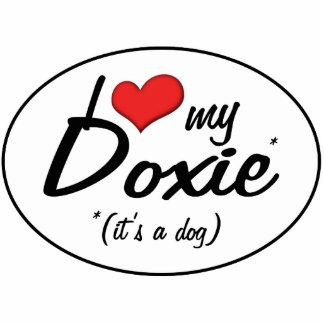 Amo mi Doxie (es un perro) Adorno Fotoescultura