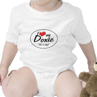 Amo mi Doxie (es un perro) Traje De Bebé