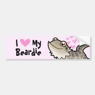 Amo mi dragón barbudo/el dragón de Rankin Pegatina De Parachoque