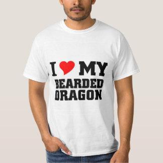 Amo mi dragón barbudo polera