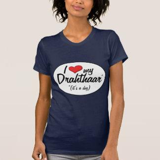Amo mi Drahthaar (es un perro) T-shirts