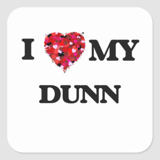 Amo MI Dunn Pegatina Cuadrada