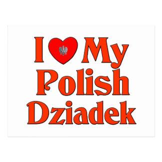 Amo mi Dziadek polaco (el abuelo) Postales