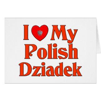 Amo mi Dziadek polaco (el abuelo) Tarjeta De Felicitación