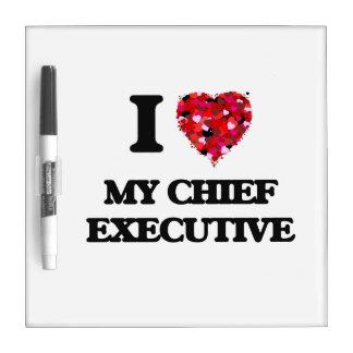 Amo mi ejecutivo pizarras blancas de calidad