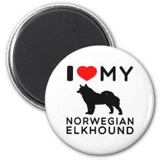 Amo mi Elkhound. noruego Iman