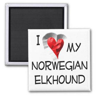 Amo mi Elkhound noruego Iman De Nevera