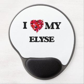 Amo mi Elyse Alfombrillas De Ratón Con Gel