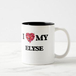 Amo mi Elyse Taza De Dos Tonos