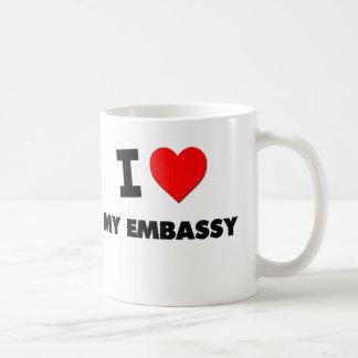 Amo mi embajada tazas