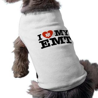Amo mi EMT Playera Sin Mangas Para Perro