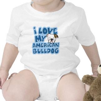 Amo mi enredadera americana del bebé del dogo traje de bebé