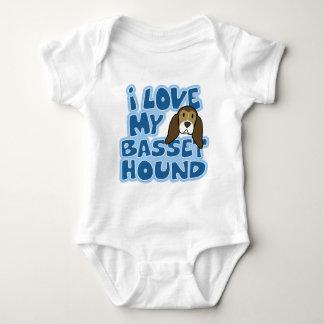 Amo mi enredadera del bebé de Basset Hound Body Para Bebé