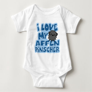 Amo mi enredadera del bebé del Affenpinscher Body Para Bebé