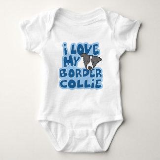 Amo mi enredadera del bebé del border collie playera