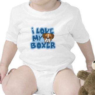 Amo mi enredadera del bebé del boxeador traje de bebé