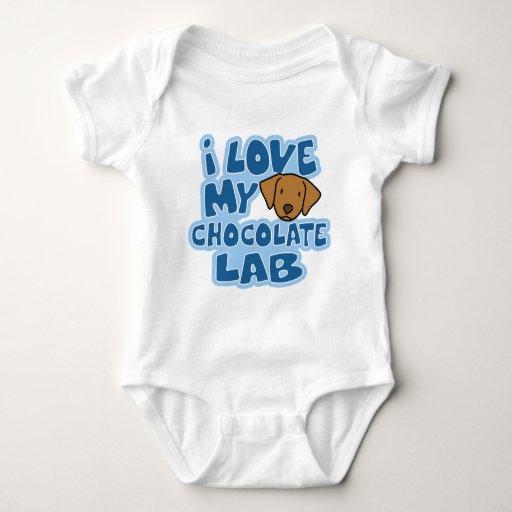 Amo mi enredadera del bebé del laboratorio del tee shirts