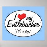 Amo mi Entlebucher (es un perro) Poster