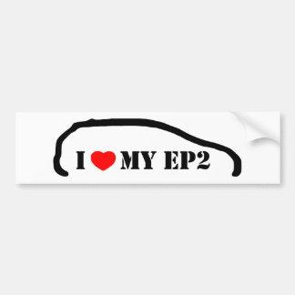Amo mi EP2 Pegatina De Parachoque