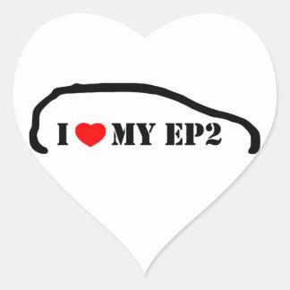Amo mi EP2 Pegatina De Corazón