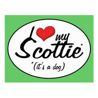 Amo mi escocés (es un perro) postal