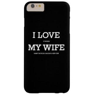 Amo mi esposa y armas funda barely there iPhone 6 plus
