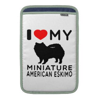 Amo mi esquimal americano miniatura funda  MacBook