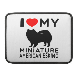 Amo mi esquimal americano miniatura fundas para macbook pro